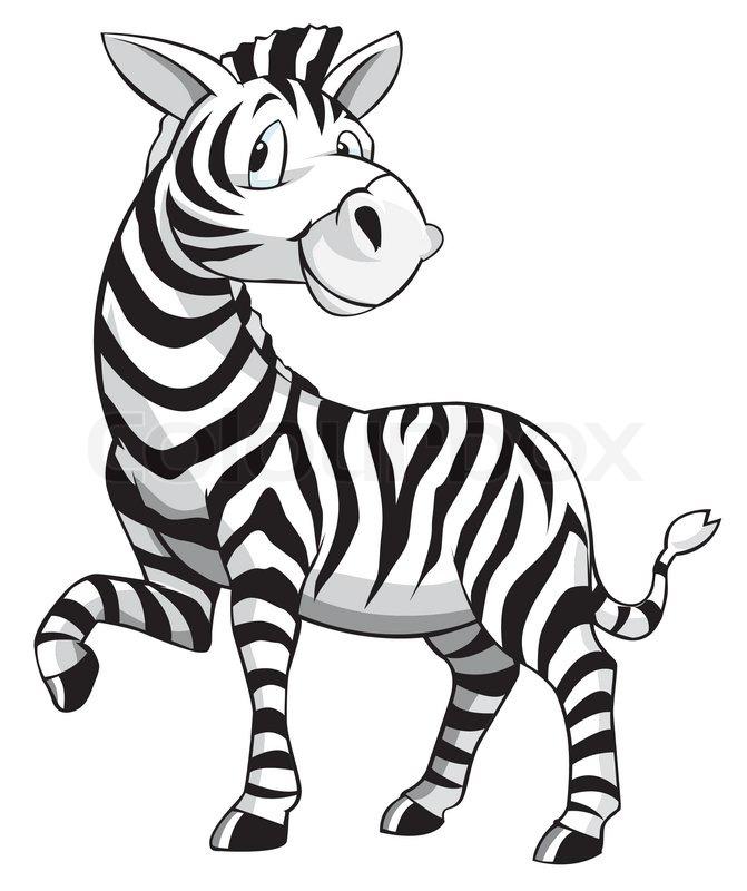 671x800 Zebra Cartoon Stock Vector Colourbox