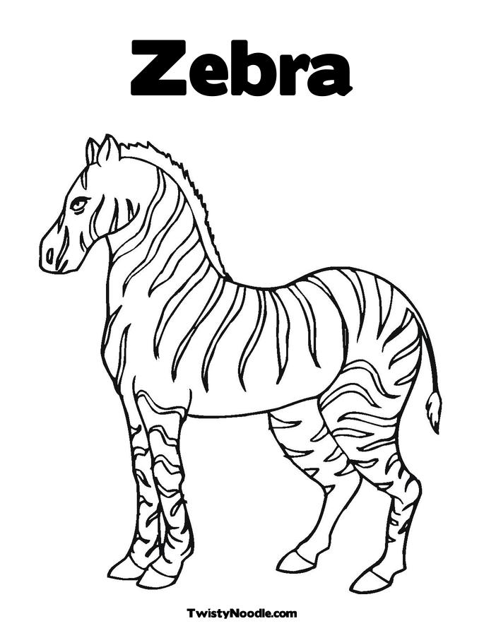685x886 Zebra Coloring Pages