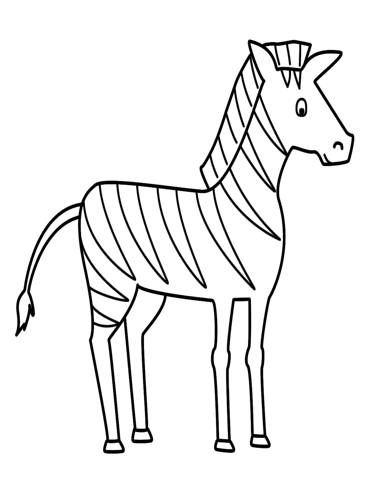 1200x1600 Zebra Drawing Step By Step