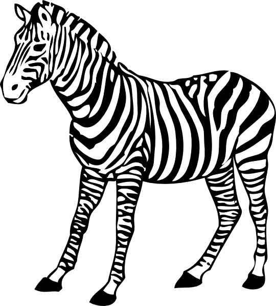 540x597 Zebra clip art Free vector in Open office drawing svg ( svg
