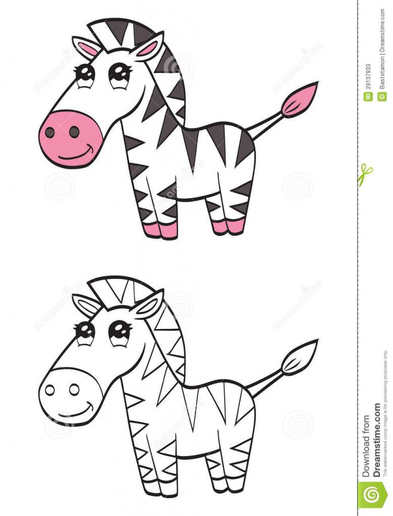 779x1024 Cartoon Drawing Zebra How To Draw A Cute Cartoon Zebra