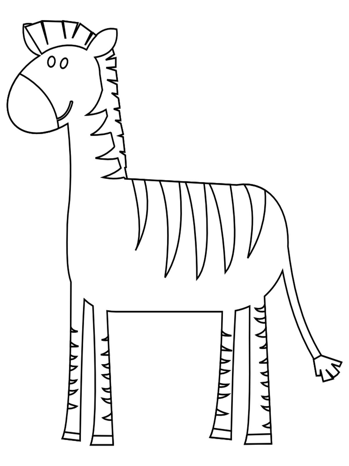 1200x1600 Zebra Coloring Pages Kids Drawing