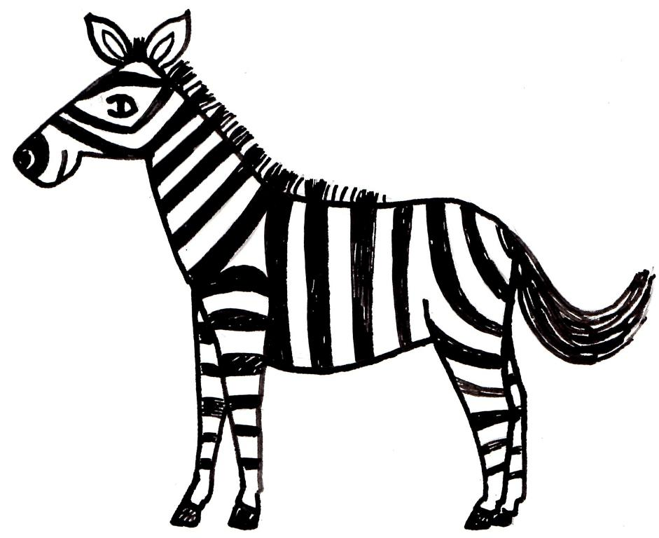 941x768 Cartoon Zebra Coloring Pages Fitfru Style Printable Zebra