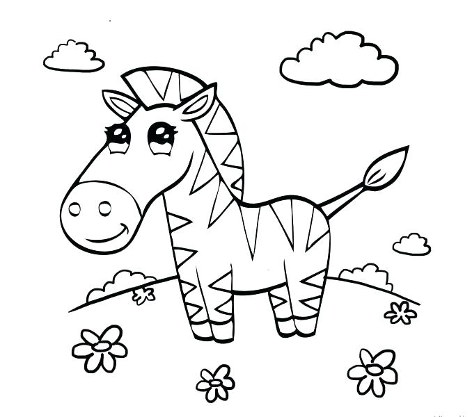 678x600 Coloring Pages Of Zebras Zebra Coloring Pages In Meadow Free