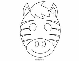 263x203 Printable Zebra Mask