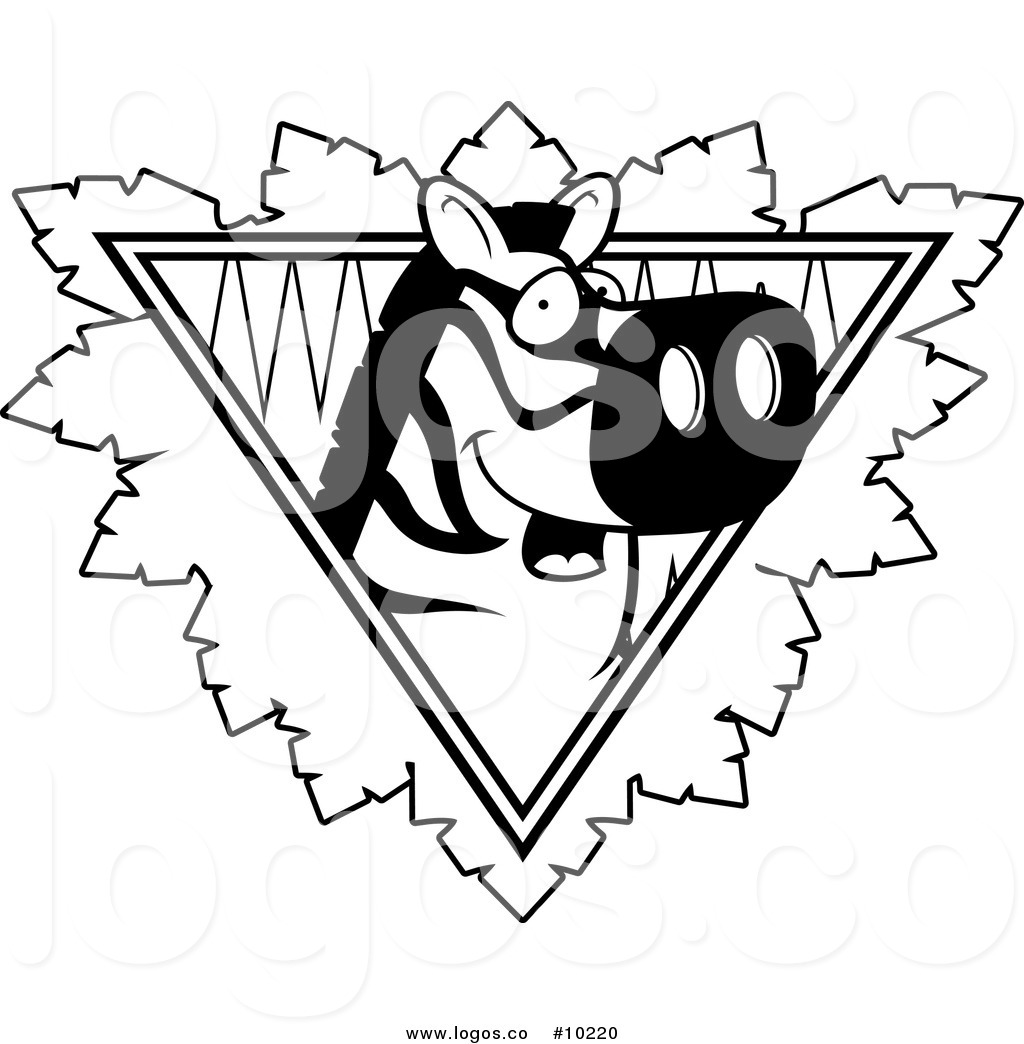 1024x1044 Royalty Free Clip Art Vector Logo Of A Black And White Zebra Face