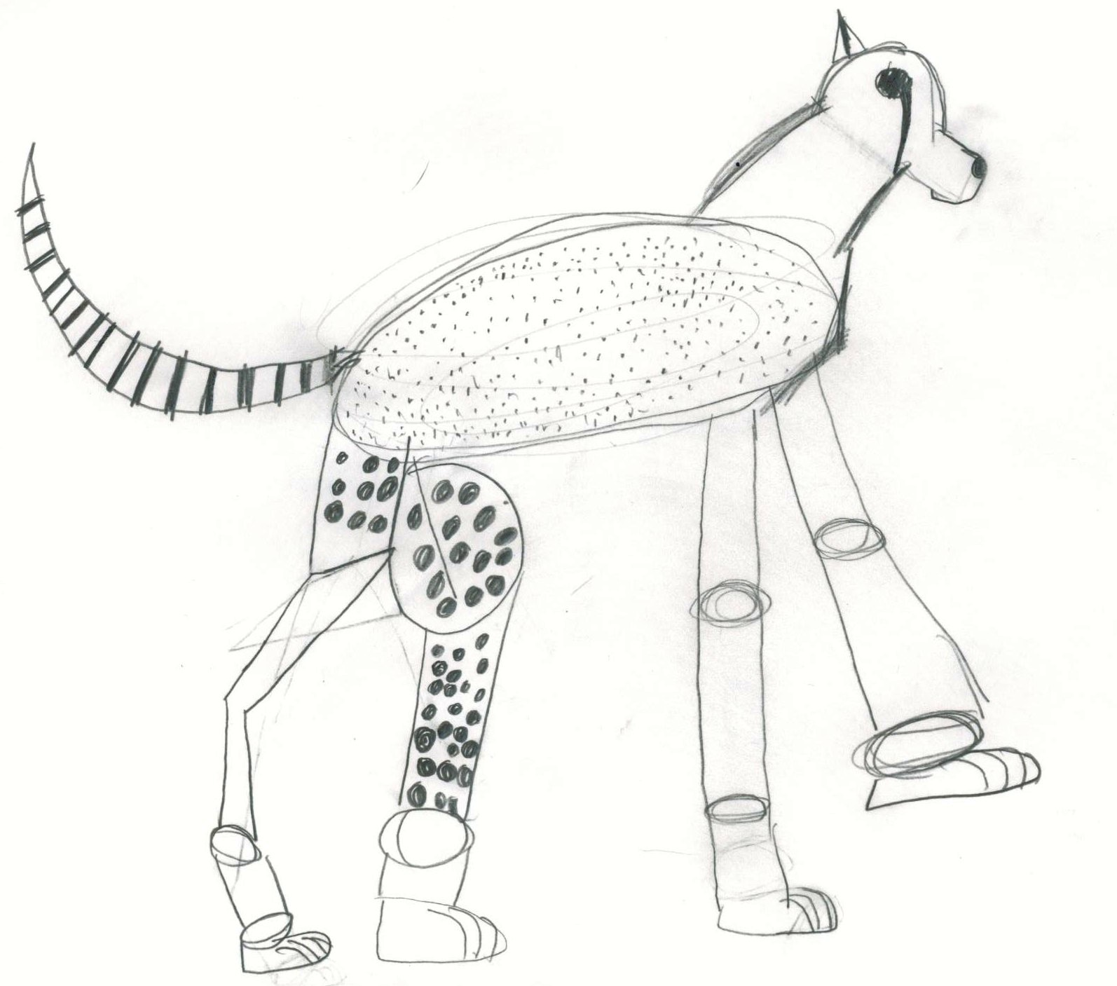 1594x1407 Art By Jeane Nevarez Cheetah Lesson