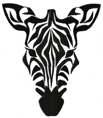 350x401 Zebra Face Embroidered Terry Bathroom Hand By Embroiderybydonnag