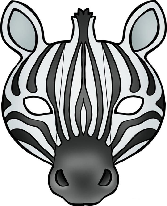 708x875 Zebra Mask Craft