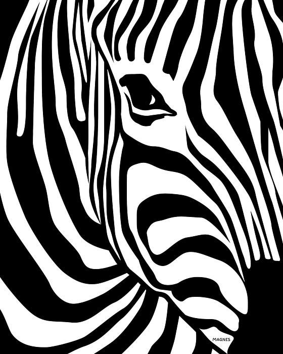 560x700 Zebra Print By Ron Magnes Paintng On Wood Amp Canvas