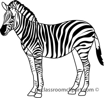 400x377 Awesome Design Ideas Zebra Outline How To Draw A With Pictures