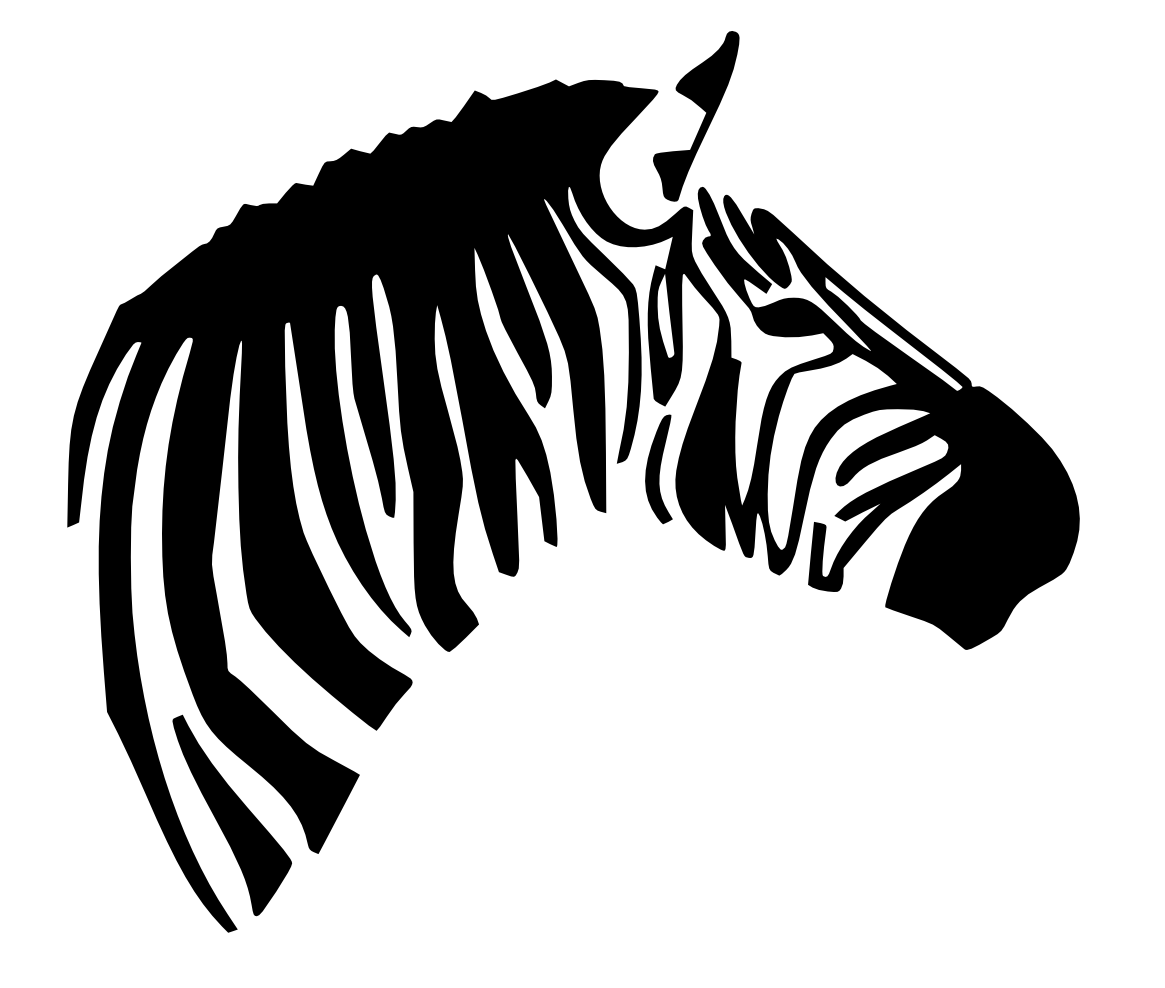 1165x988 Zebra Side View Face Books Worth Reading Svg File