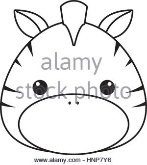 300x336 Zebra Drawing Icon Stock Vector Art Amp Illustration, Vector Image