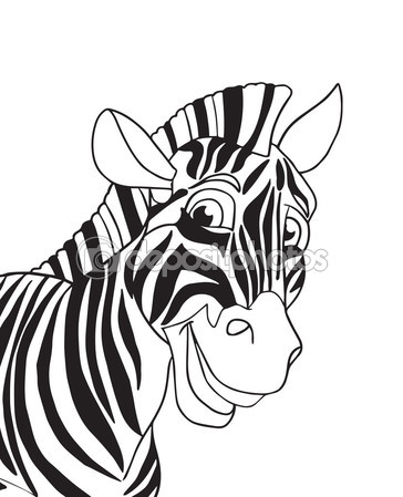 364x449 Cute Zebra. Zebra Cartoon Character. Zebra Smile. Zebra