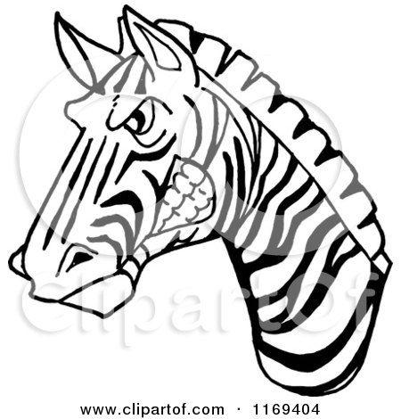 450x470 Deluxe Zebra Face Cartoon