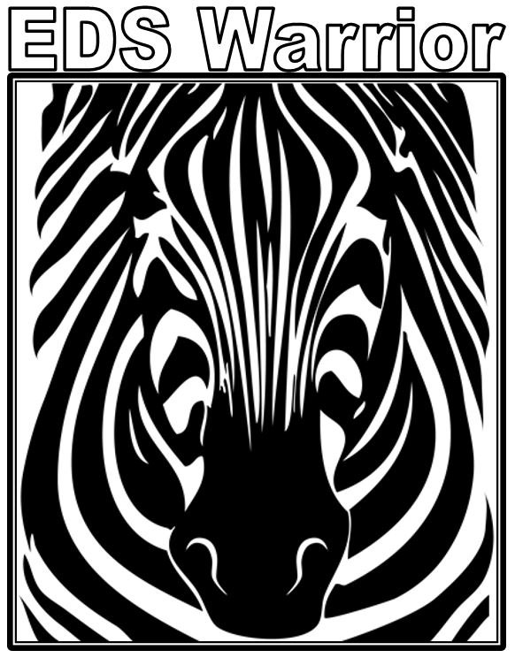 582x744 Eds, Eds Awareness Merchandise, Zebra Coloring Pages, Ehlers