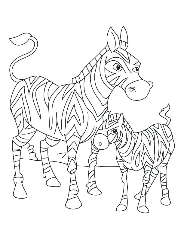 612x792 Coloring Pages Of Zebras Zebra Eating Grass Coloring Page Coloring