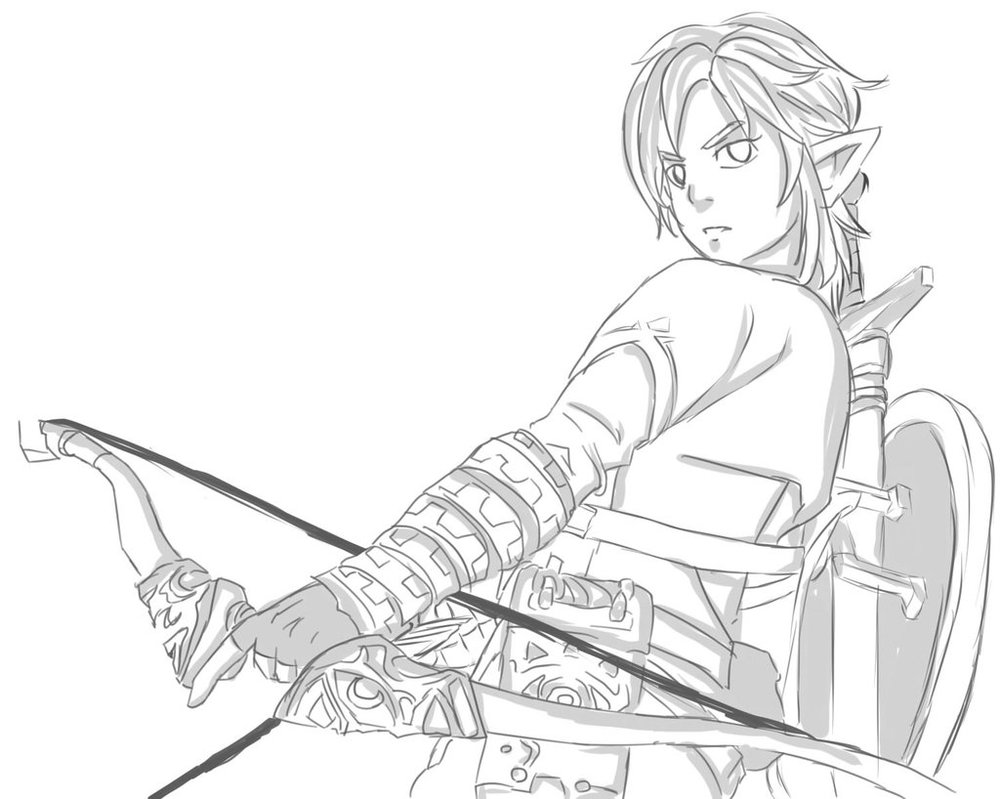 1000x799 Legend Of Zelda Link Sketch By Lucleigh