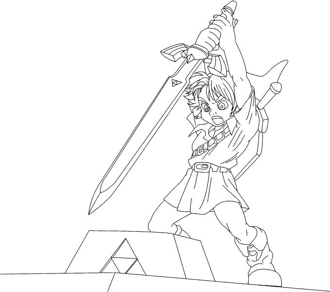 678x600 Best Legend Of Zelda Link Coloring Pages Crayola Photo Wind Free