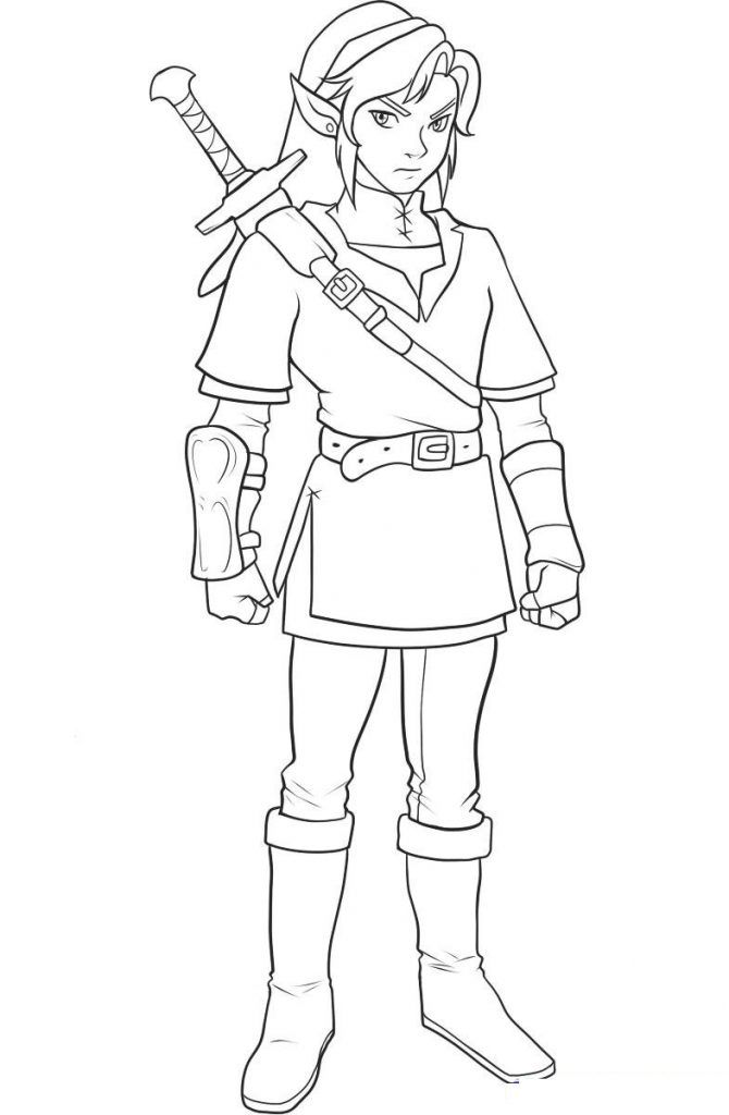 670x1024 Printable Zelda Coloring Pages Drawing Coloring