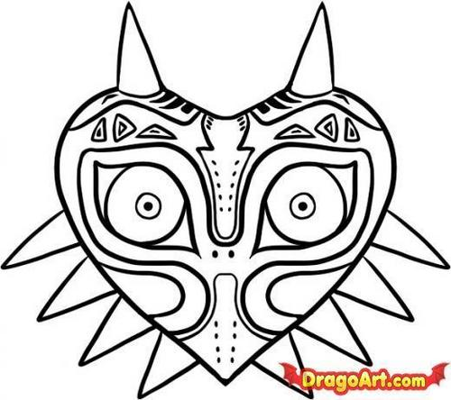 500x444 The Legend Of Zelda Images How To Draw Majora's Mask Wallpaper