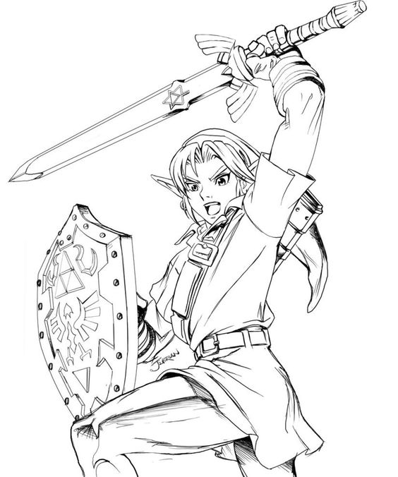 564x676 Zelda Coloring Pages Picture 445145 Lineart Zelda Amp Link