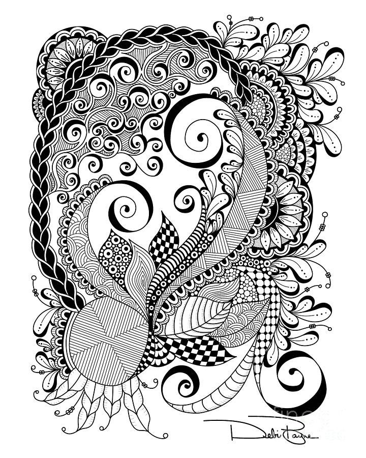 720x900 Zen Swirls Digital Art By Debi Payne Art