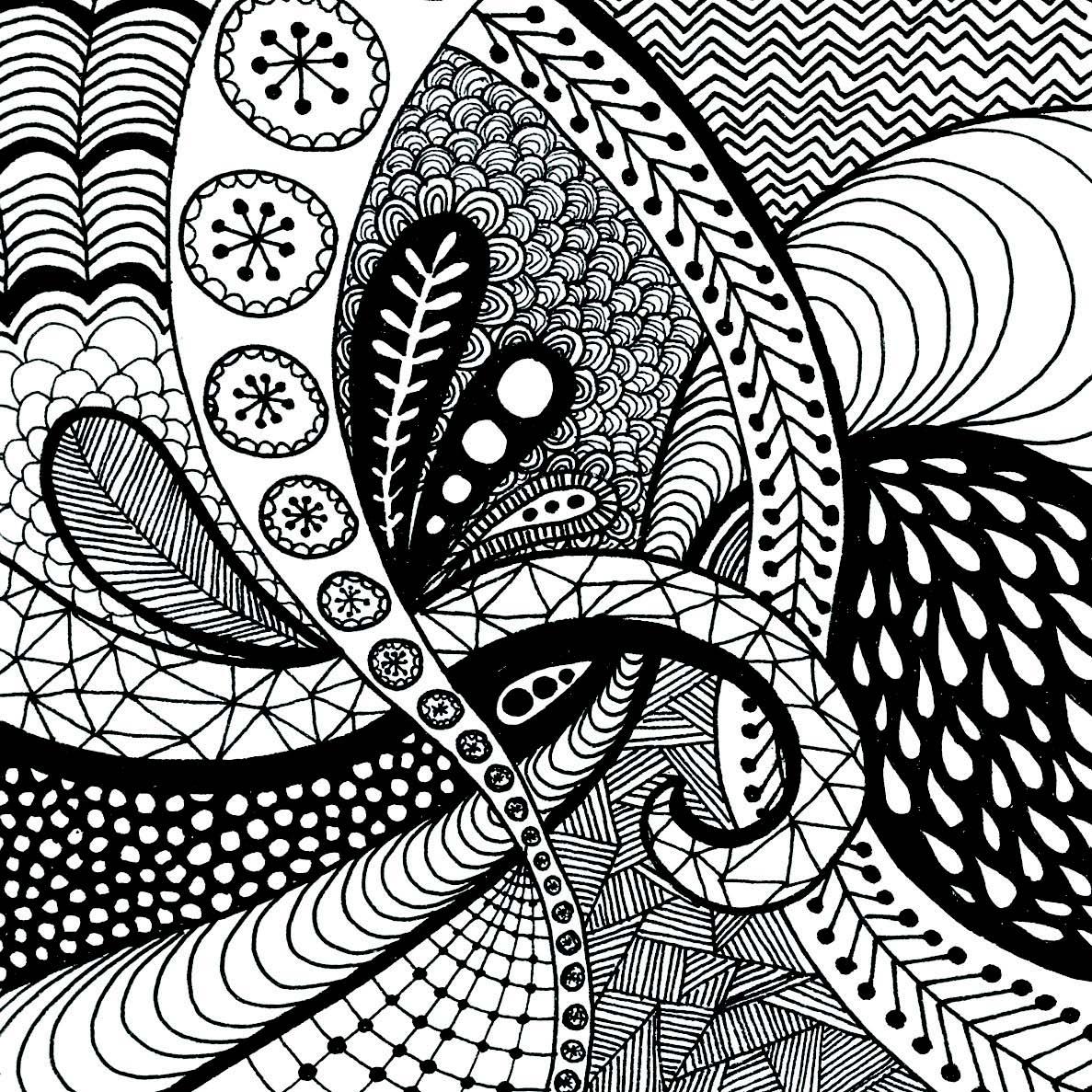 1187x1187 Simple Zen Drawing Zen Flower Drawing