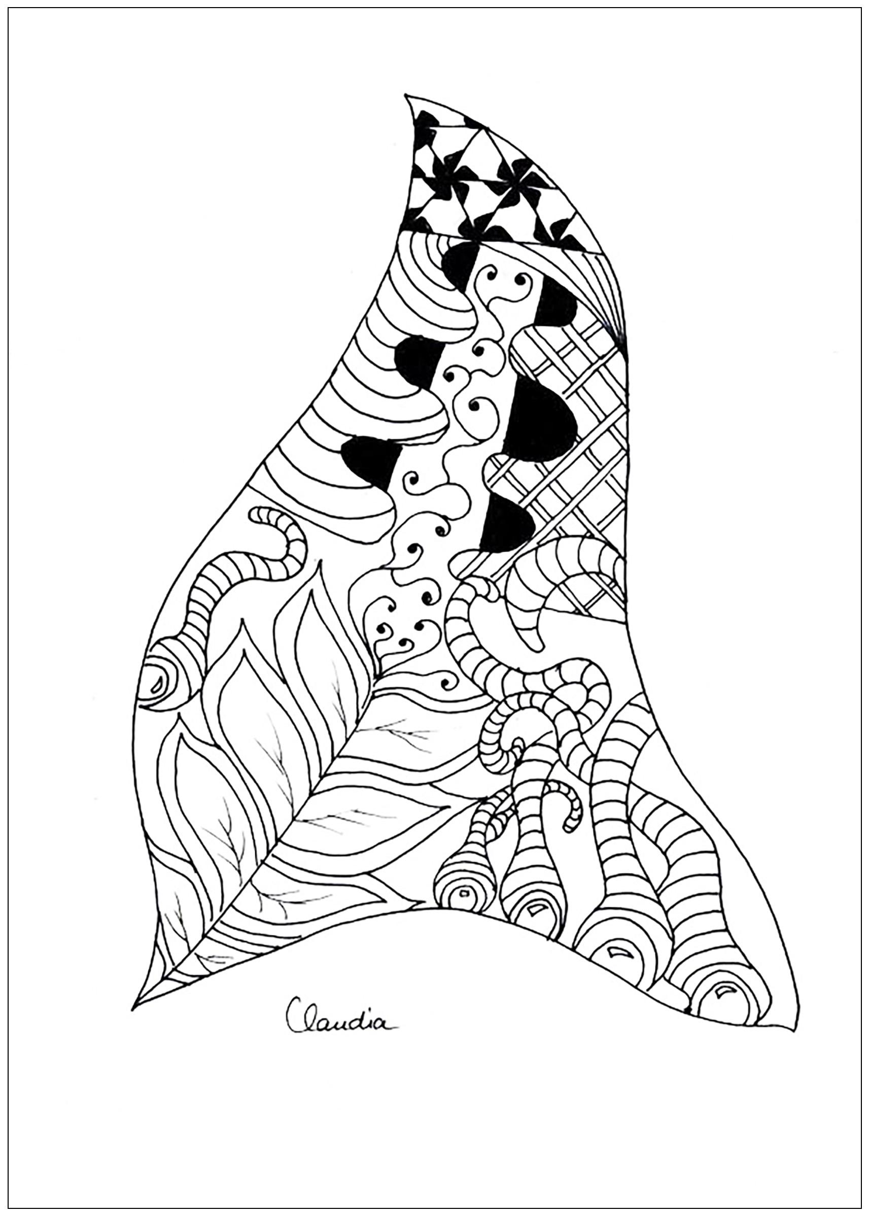 1715x2396 Zentangle Simple By Claudia 2 Zentangle