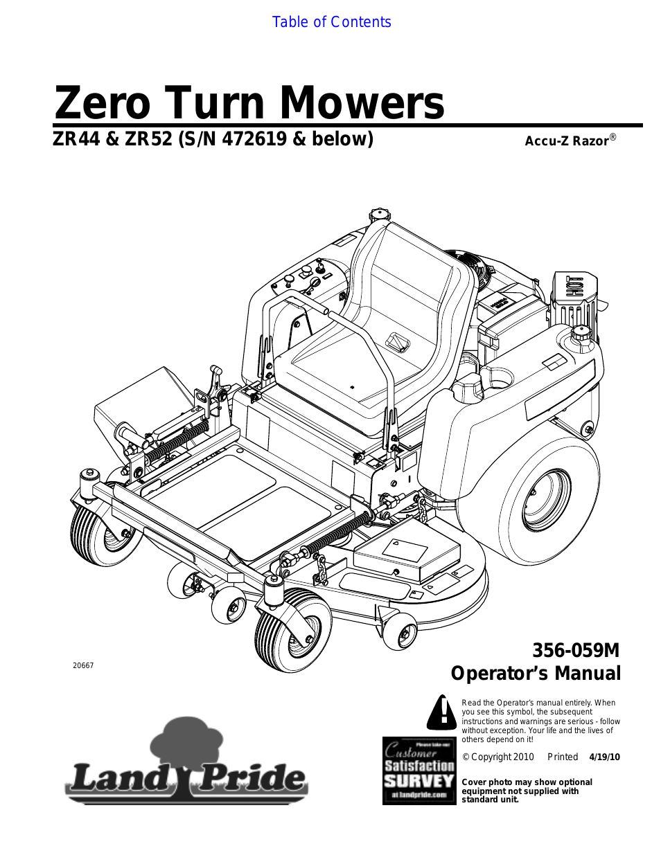 Zero Turn Mower Drawing At Free For Personal Use Ferris Seat Switch Wiring Diagram 954x1235 Land Pride Zr52 User Manual 40 Pages Also Zr44