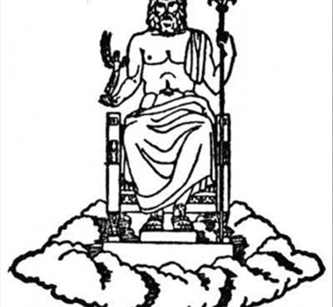 Zeus drawing at free for personal use for Mount olympus coloring pages