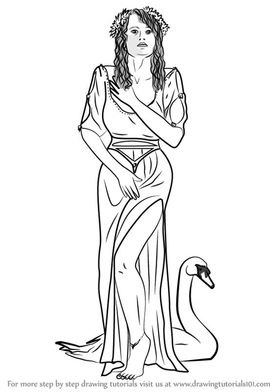 567x800 Learn How To Draw Aphrodite Goddess (Greek Gods) Step By Step