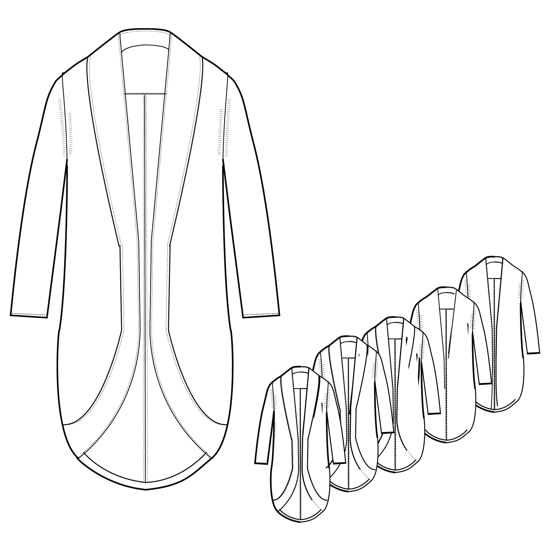 2480x2480 Women's Knitted Zipper Sweater Techpackbuilder