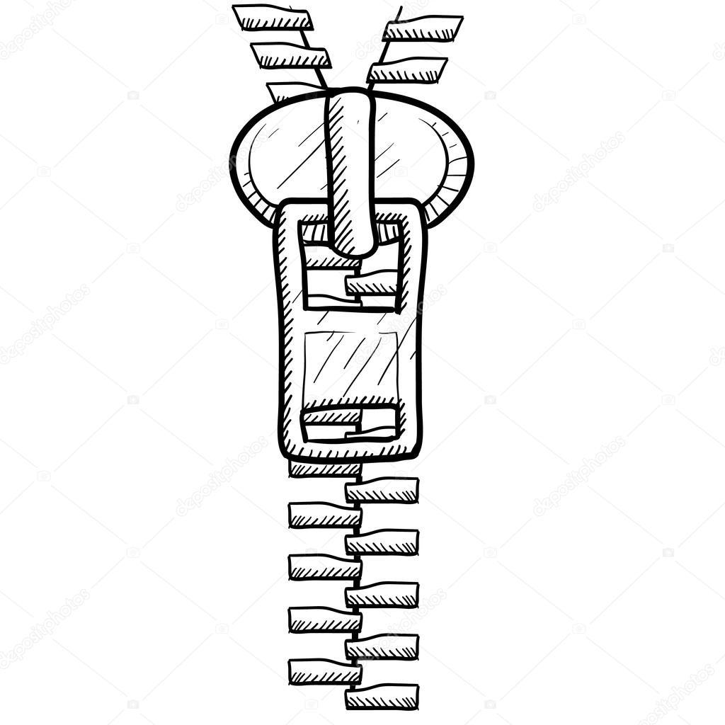 1024x1024 Zipper Sketch Stock Vector Lhfgraphics
