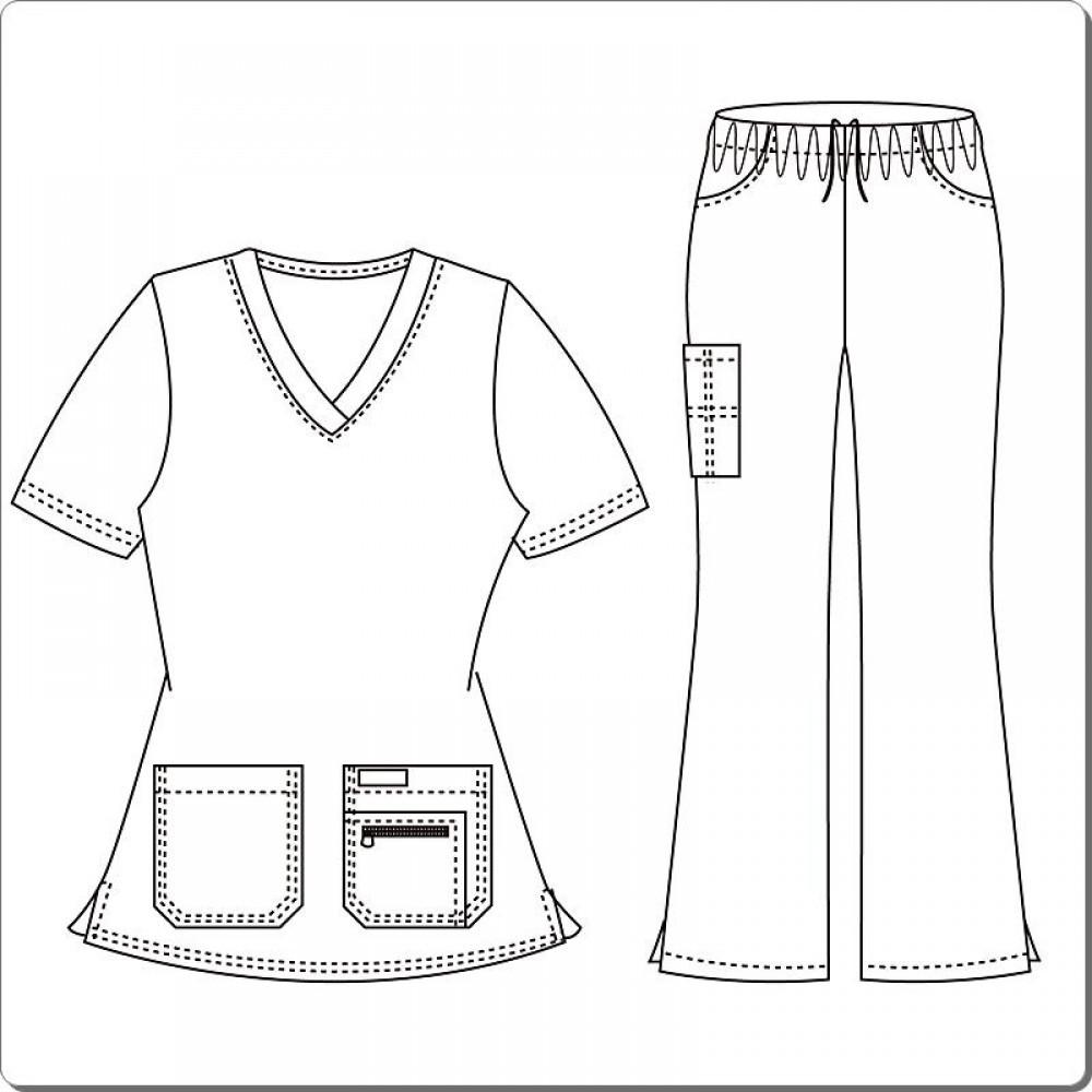 1000x1000 Medical Uniforms, Medical Scrubs Designed Zipper Pocket Set