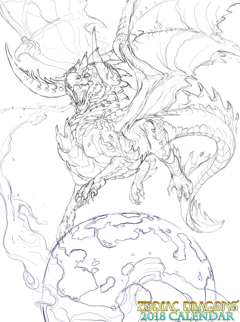 772x1034 2018 Zodiac Dragons Galactic Taurus By The Sixthleafclover