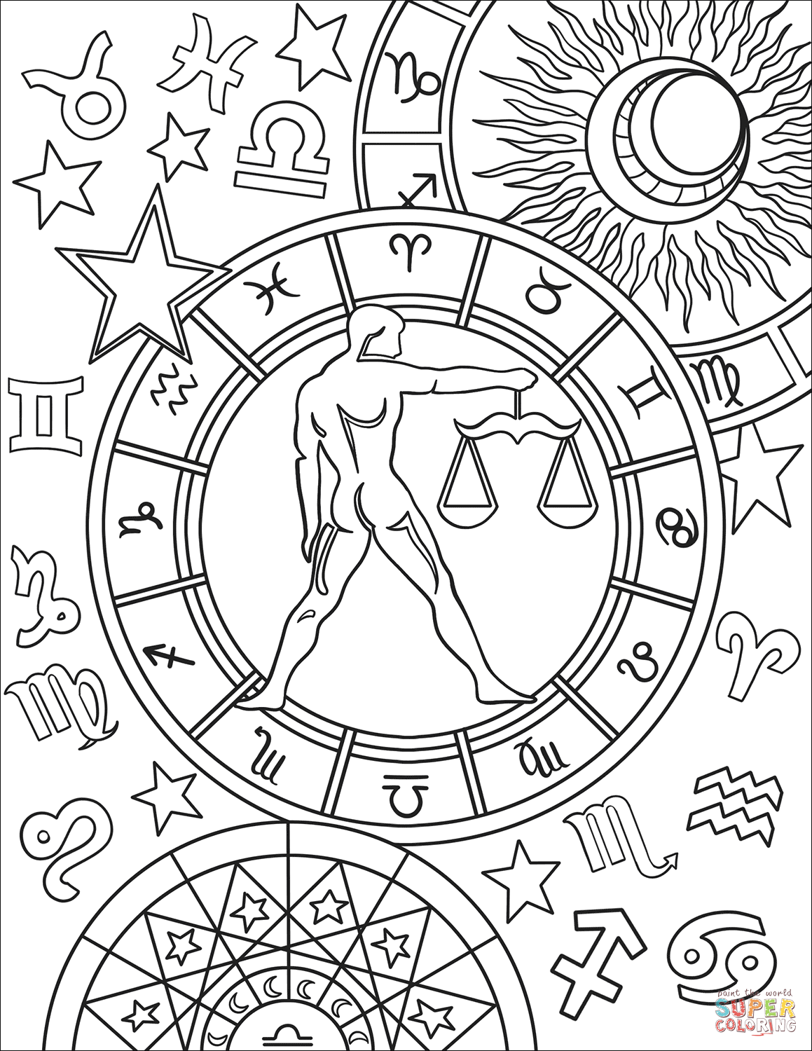1159x1500 Zodiac Signs Coloring Book Free Coloring Pages
