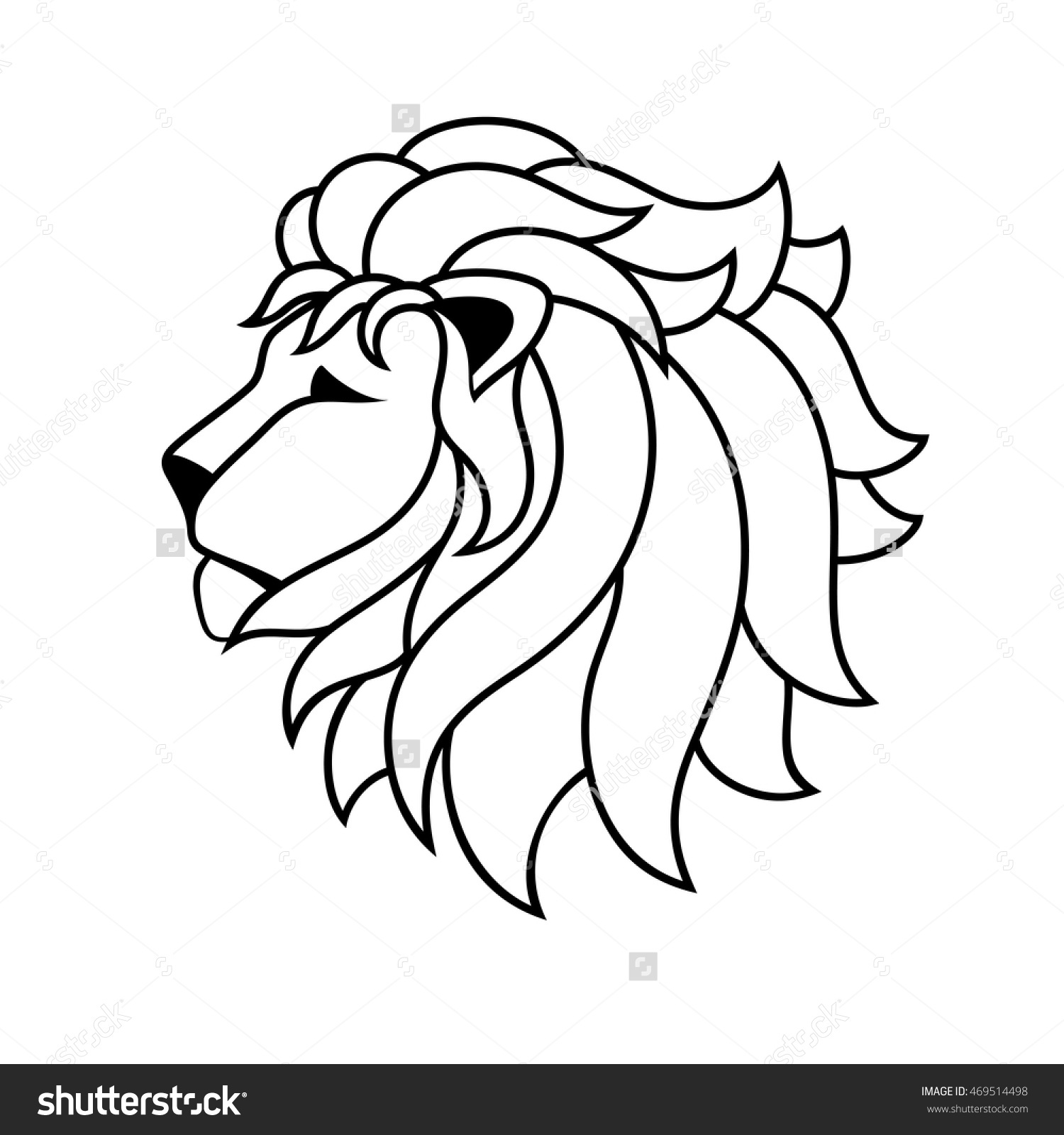 1500x1600 Lion Line Drawing Clipart