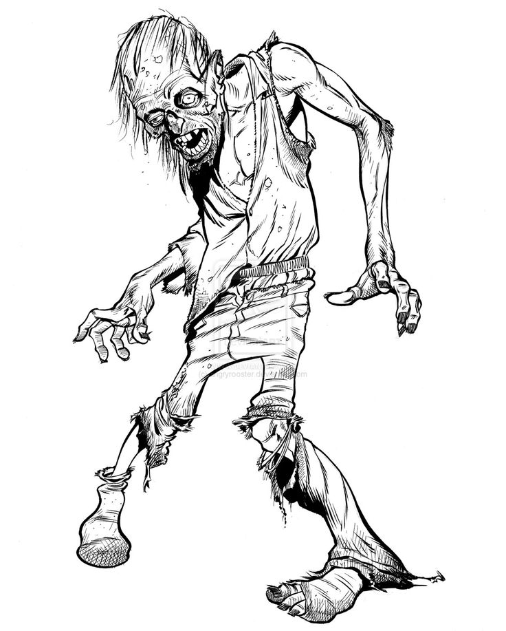 Zombie Cartoon Drawing