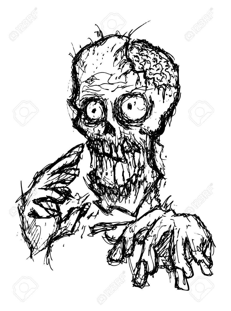 966x1300 Cartoon Zombie Royalty Free Cliparts, Vectors, And Stock
