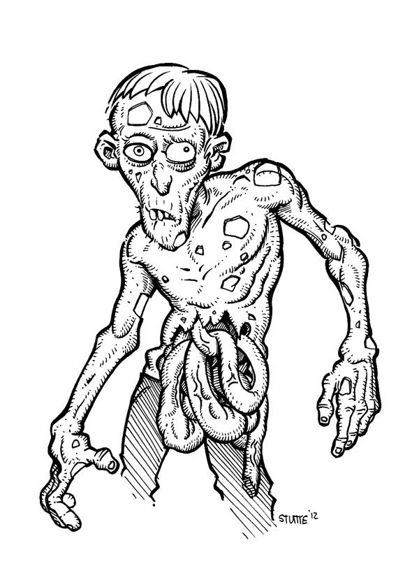 600x830 Cartoon Zombie By Stutte