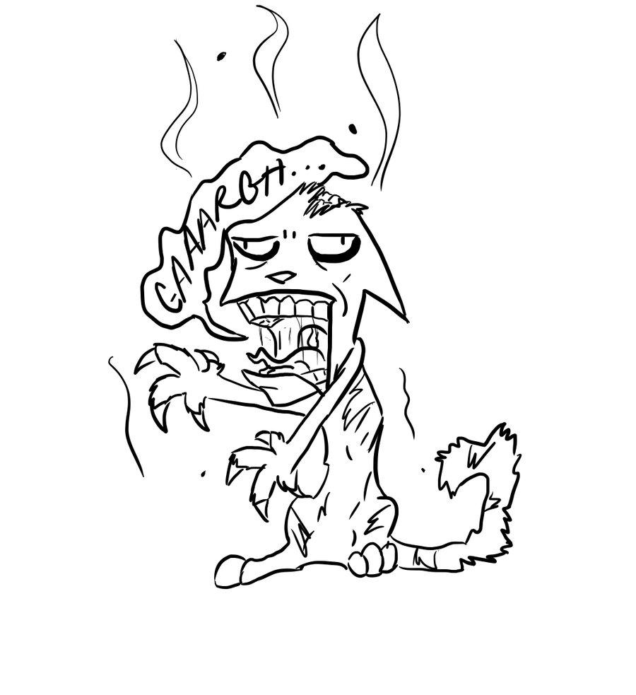 900x983 Zombie Cat New Devid By Nikoreroxdahows