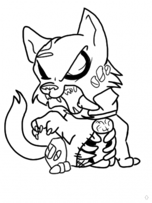 300x400 Zombie Cat Coloring Pages Zombie Hello Kitty Coloring Pages