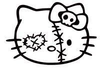 200x141 Zombie Cat Cute Zombie Kitty Car Bumper Sticker Decal 5 X 4 Ebay