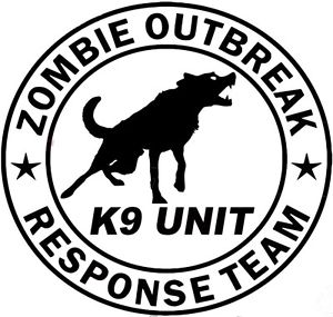 300x285 Zombie Outbreak Response Team K9 Unit Canine Dog Dogs Zombies