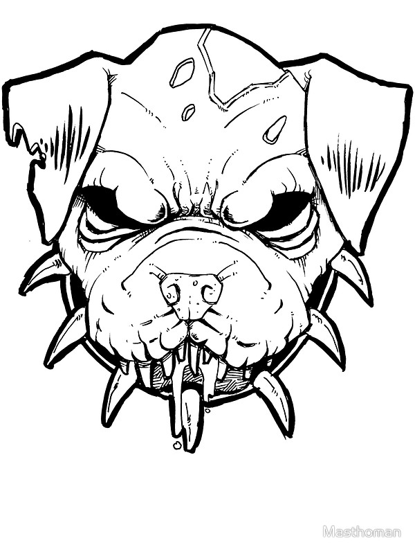600x800 Zombie Pitbull Spike Collar Stickers By Masthoman Redbubble