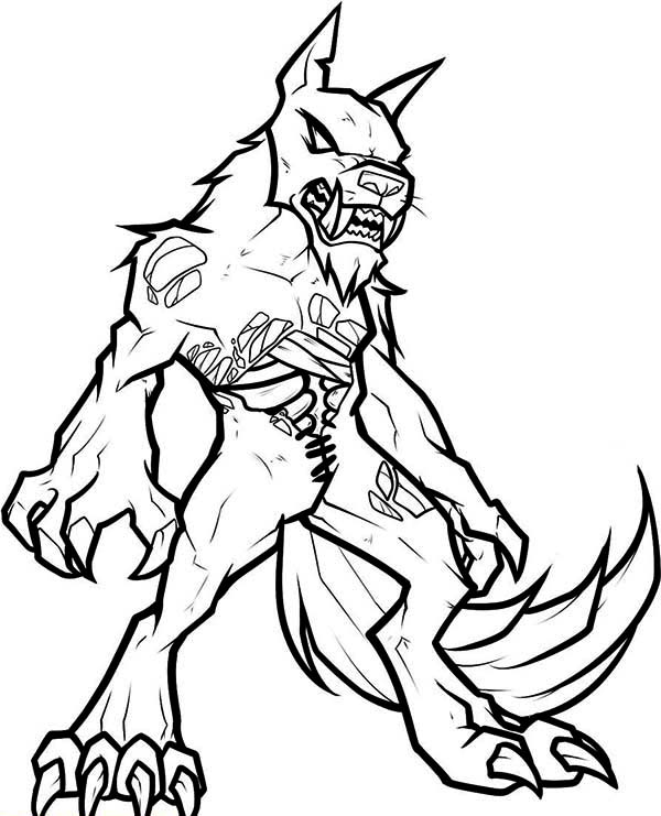 600x741 Zombie Wolf Coloring Pages Plants Vs Zombies