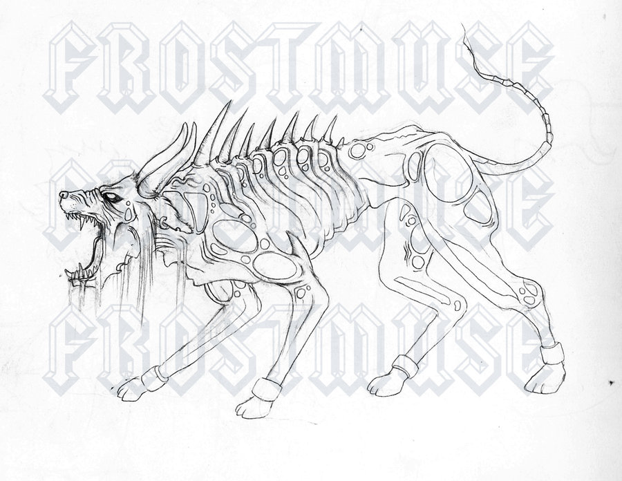 900x696 Mutant Zombie Dog By Frostmuse