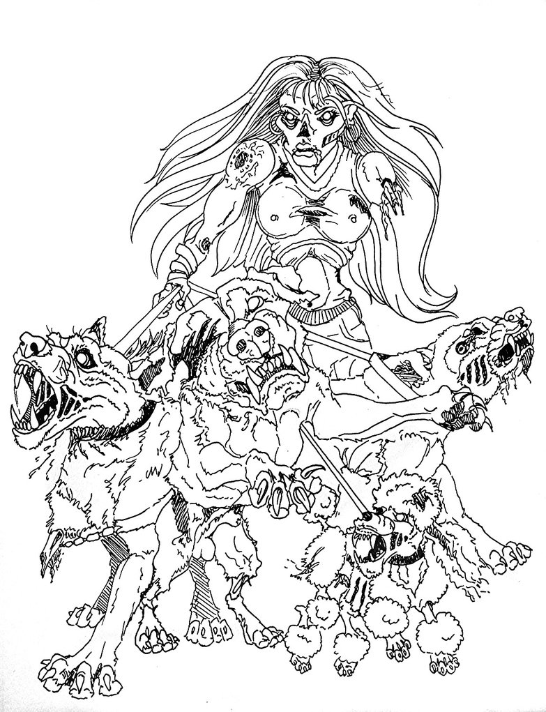 783x1021 Zombie Drawings Zombie Chick Dog Walker By ~palewolf