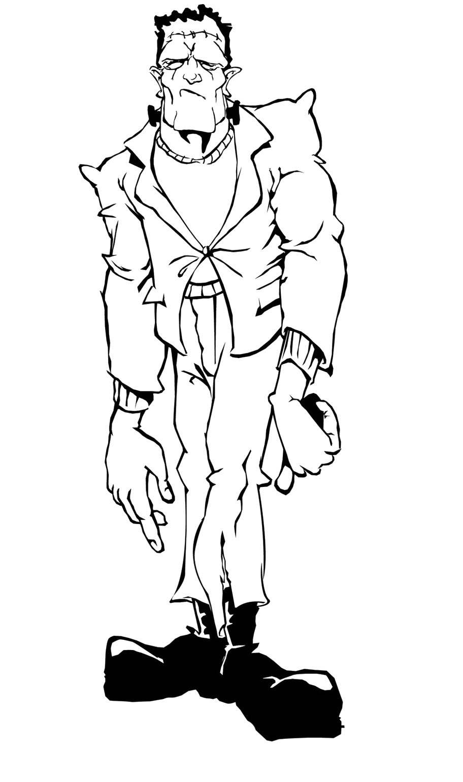 912x1540 Frankenstein Zombie Coloring Page Coloring Pages
